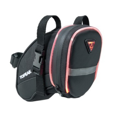 TOPEAK brašna podsedlová AERO WEDGE iGlow Medium pásky