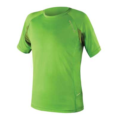Endura SingleTrack Lite Wicking T: Kelly Green Xxl
