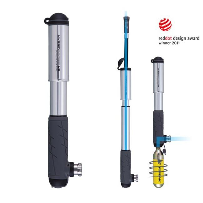 Topeak pumpa Hybrid Rocket HP stříbná