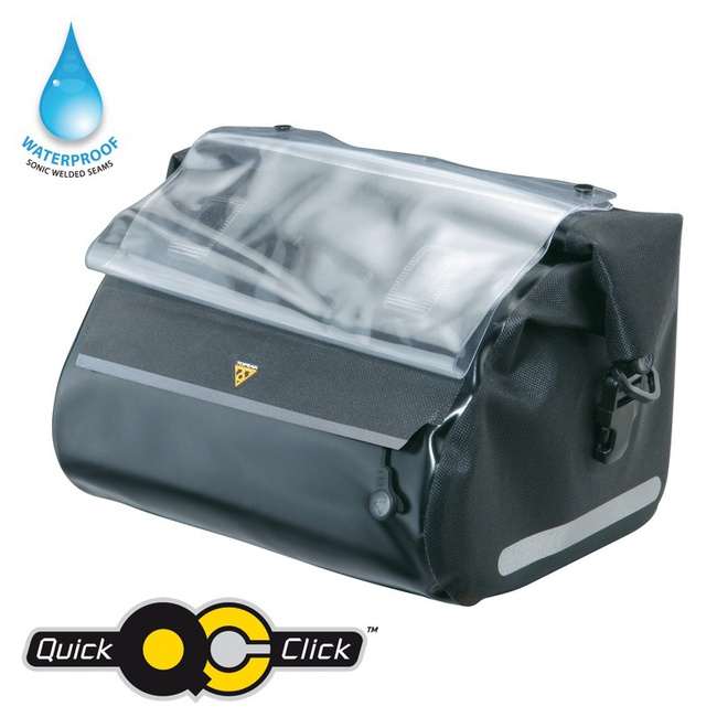 Topeak Dry Bag brašna na řidítka černá Quick Click - Topeak Handle DryBag