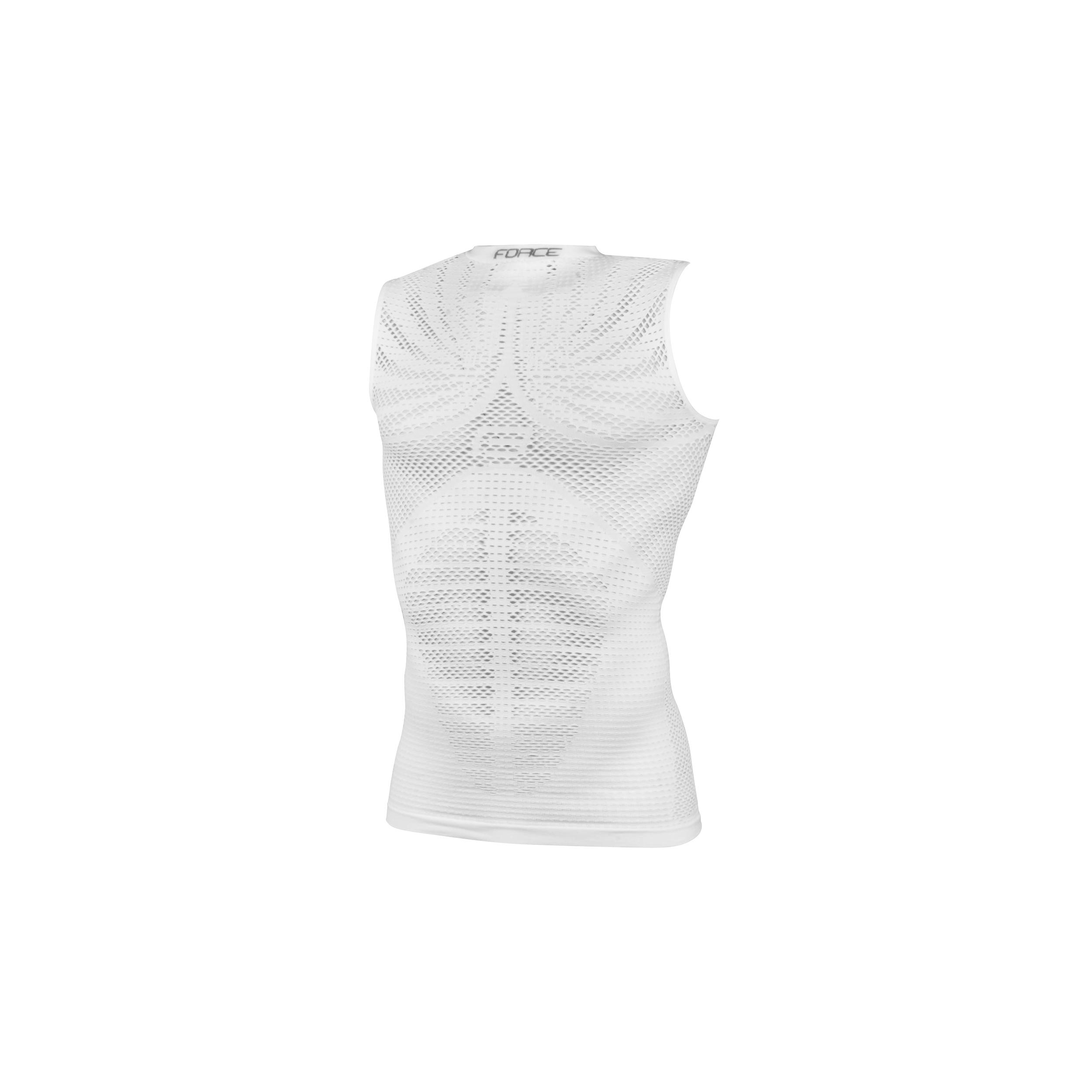 Force triko/funkční prádlo F Tropic bez rukávůbílé S-M