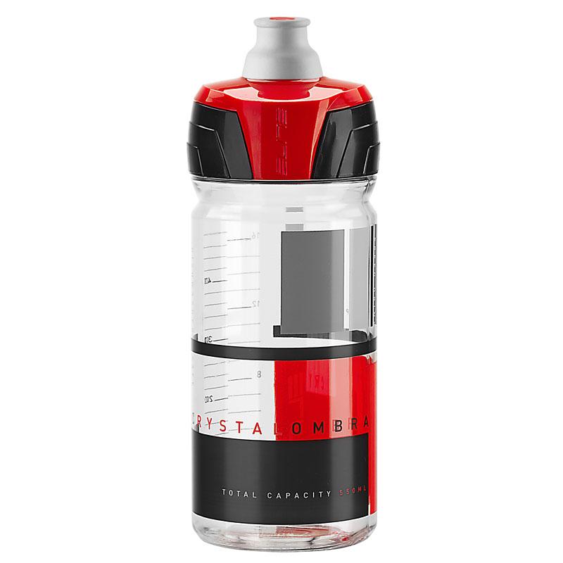 Elite láhev Crystal Ombra čirá/červená 550ml